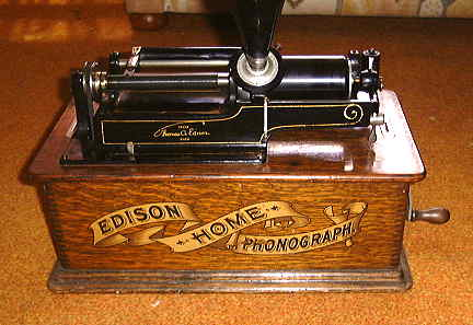 Closer look at Edison Home Phonograph.