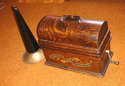 Edison Home Phonograph ready to carry away.