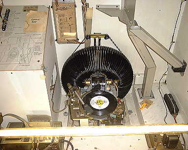 Closer view of record changer mechanism.