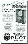 Advertisement for 1935 Pilot Radios.